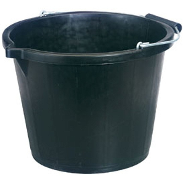 Plastic Bucket - Large  Black